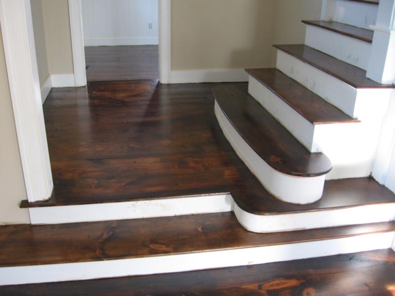 Eastern White Pine Stained And Finished Stairteads